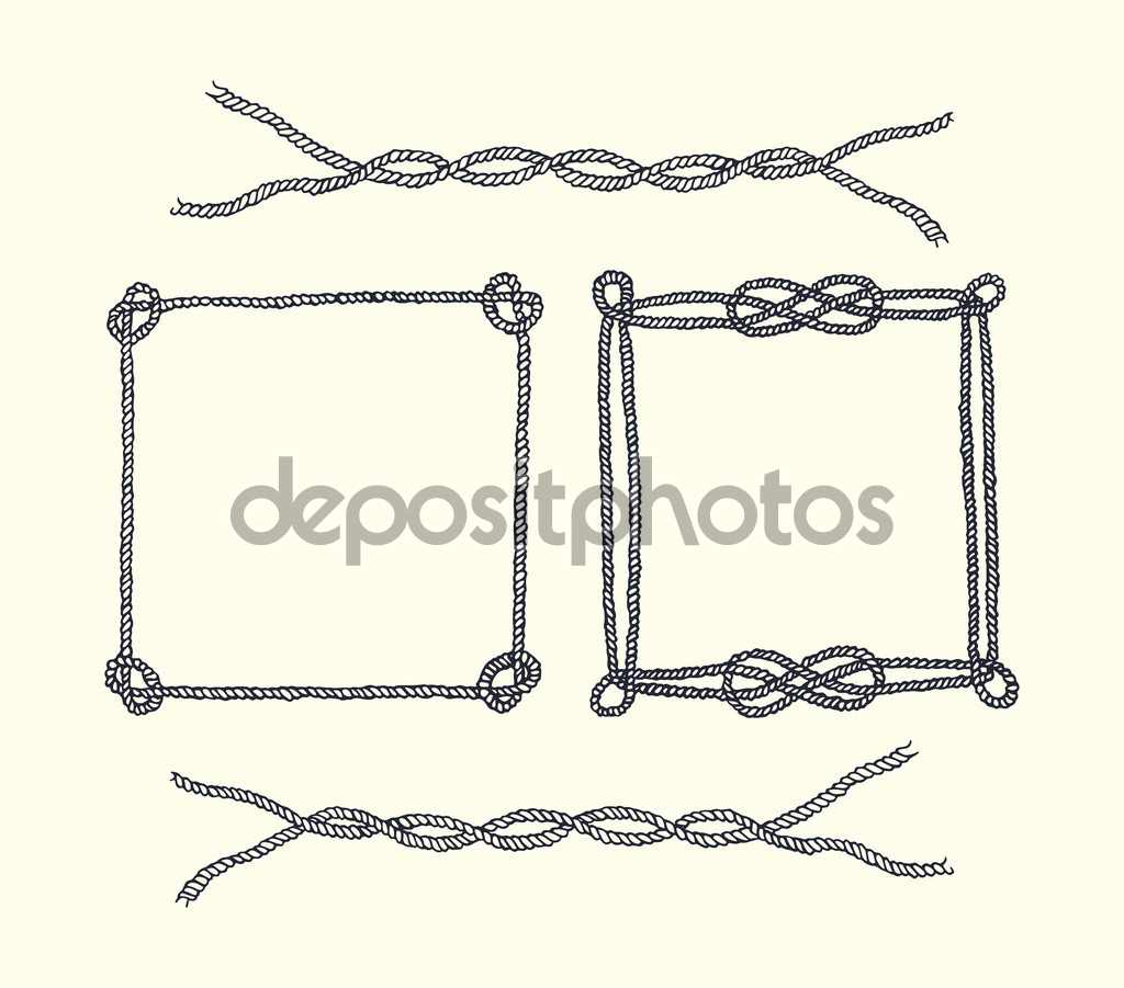 Drawn rope graphic Square — of Vector of