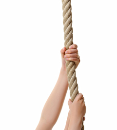 Drawn rope hand holding Year Why Will Better rope