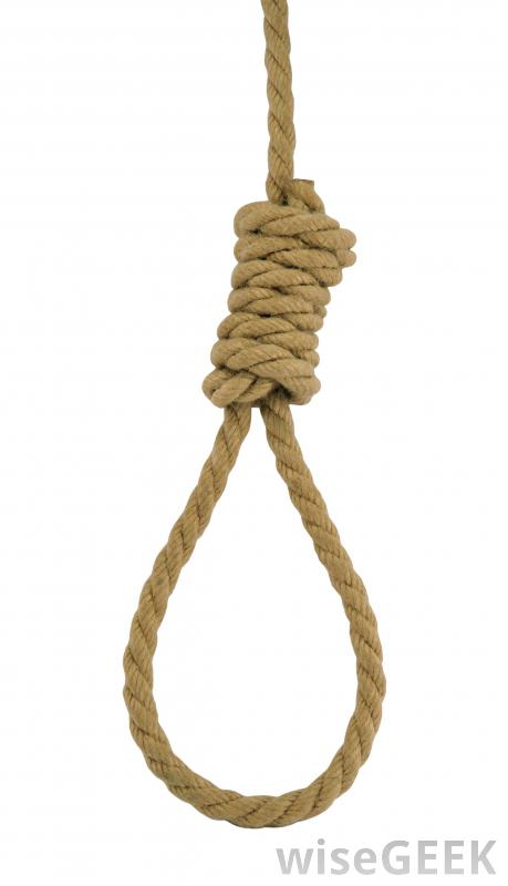 Drawn rope hanging To a does was drawn