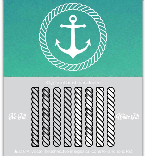Drawn rope illustrator Brushes Amazing Brushes Illustrator 17+