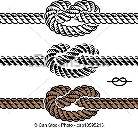 Drawn rope knot Illustrations symbols 27 vector Knot
