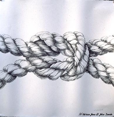 Drawn rope knot Drawing Danko Jane Patricia Artwork