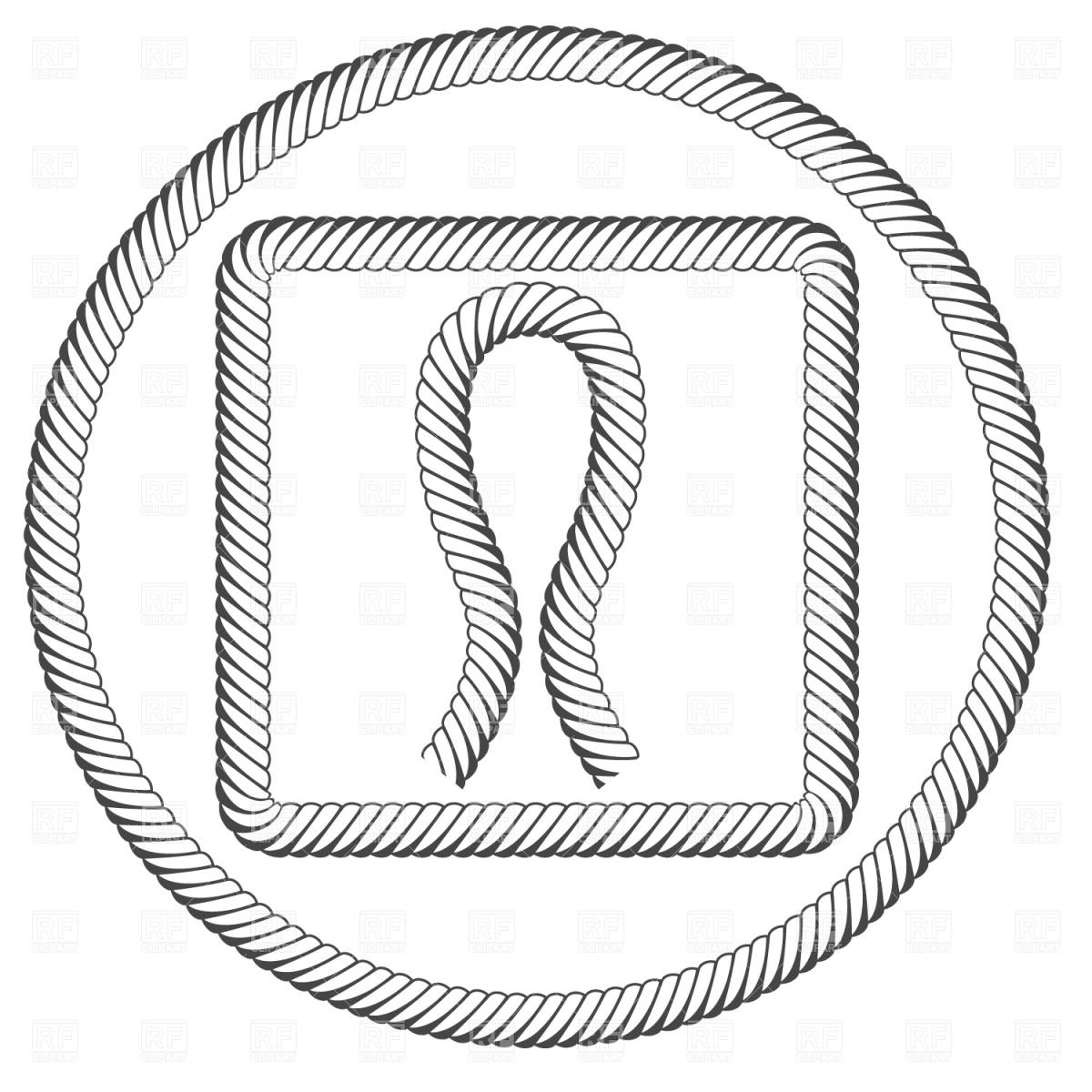 Drawn rope ring vector Border Free Clipart Clip Art