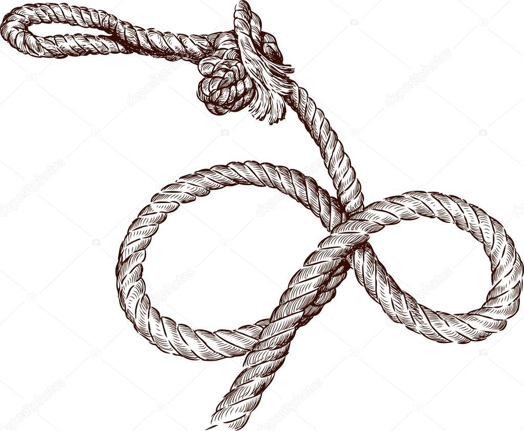 Drawn rope rope twist — sketch sketch rope Twisted