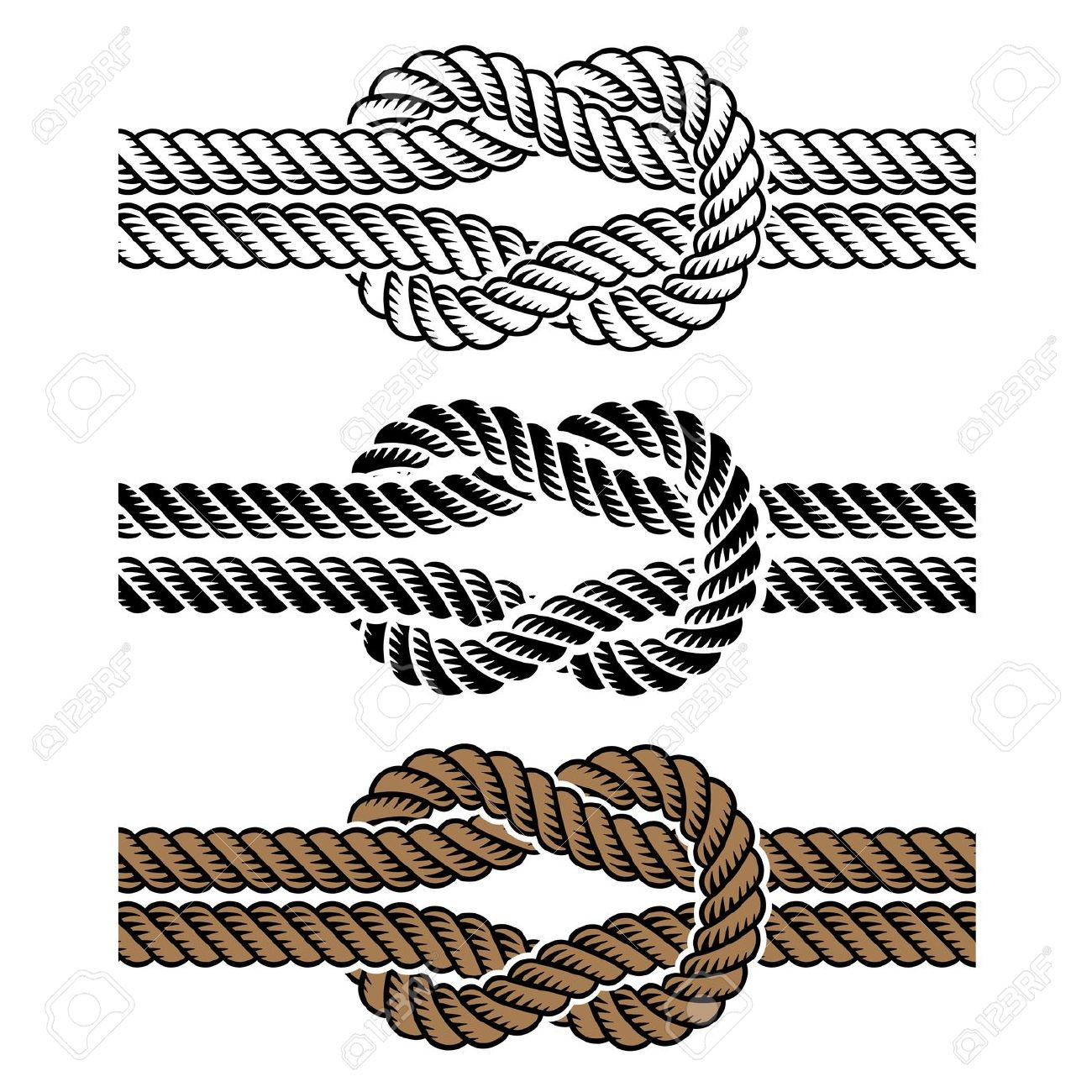 Drawn rope sailor Elements Rope tattoos Design knot