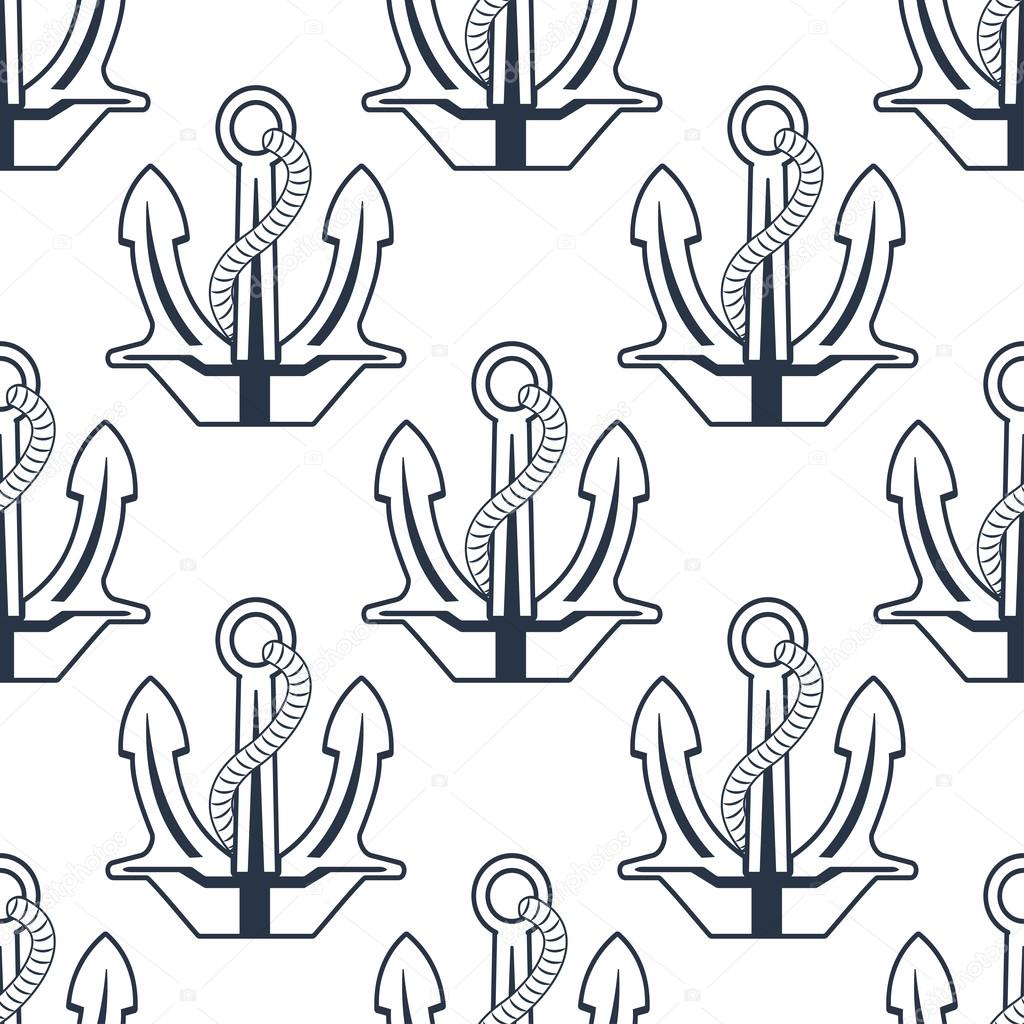 Drawn rope sea anchor Pattern — with — Stock