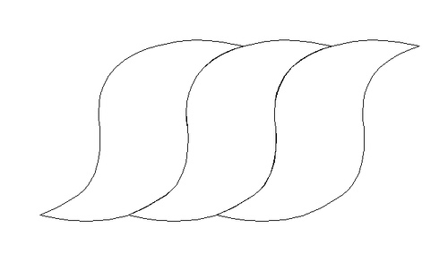 Drawn rope twisted rope Drawing Graphic 1 twists lined