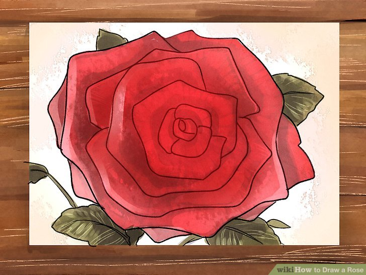 Drawn rose A Easy 3 Draw a