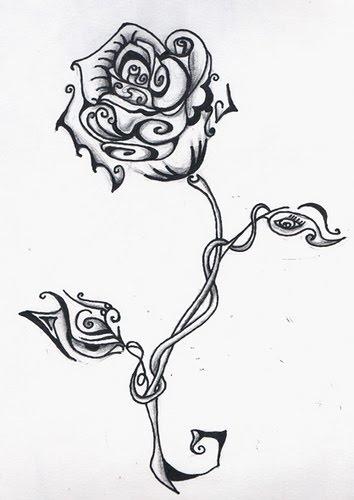 Drawn alice in wonderland rose #2