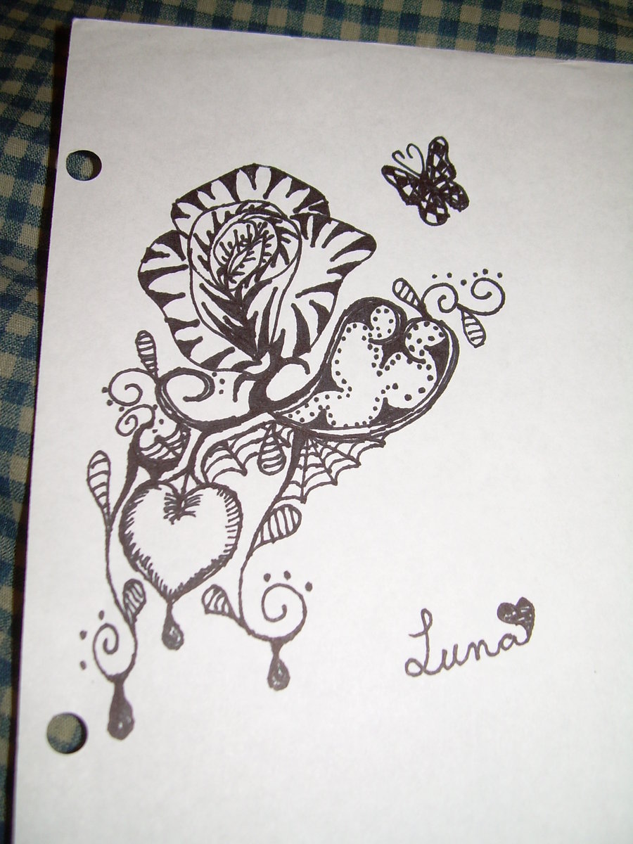 Drawn alice in wonderland rose #7