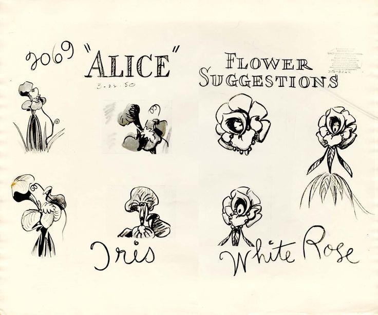 Drawn rose alice in wonderland & on Sheet Tattoo Model