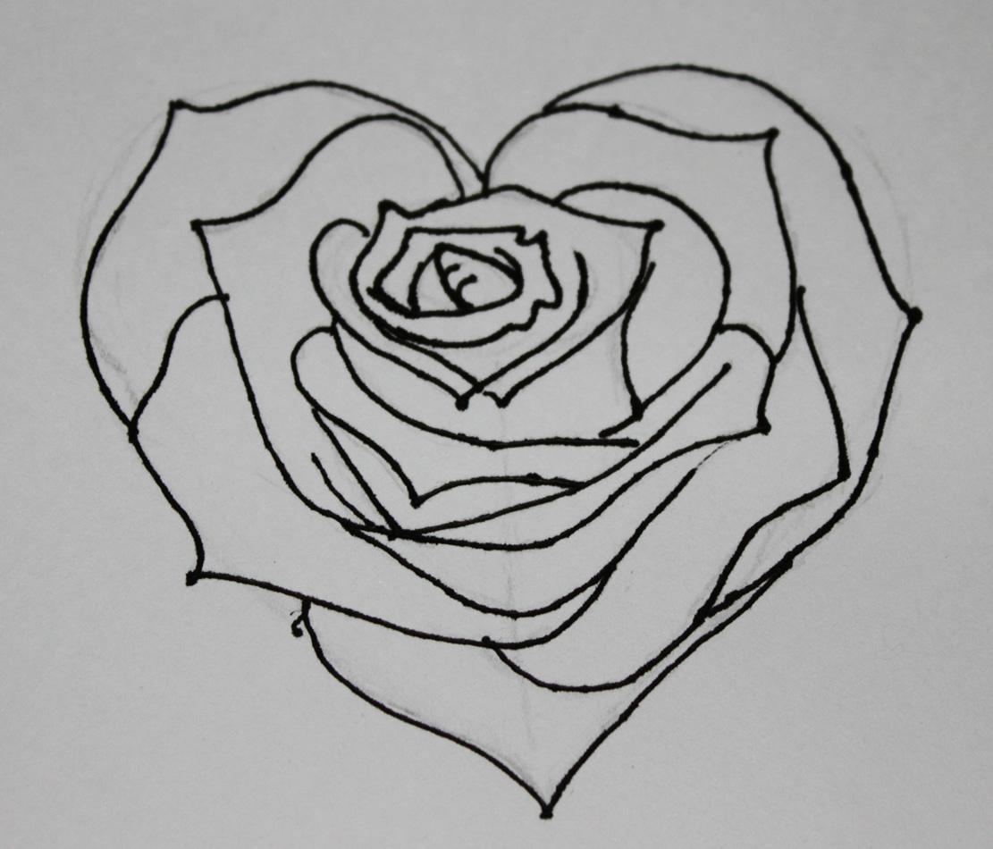 Drawn rose anime Drawings Dr Heart  Odd