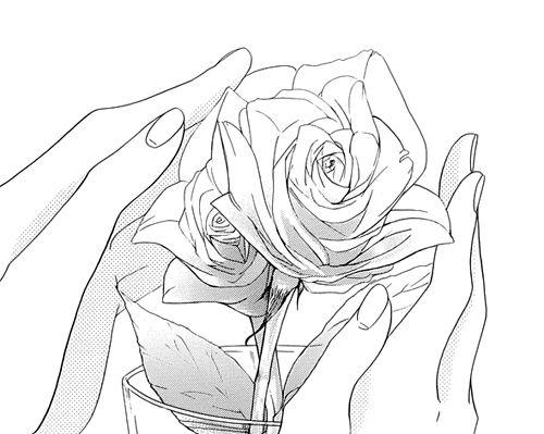 Drawn rose anime Pin and manga Pinterest manga