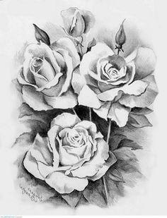 Drawn rose artistic … Pinteres… Rose We Sketches