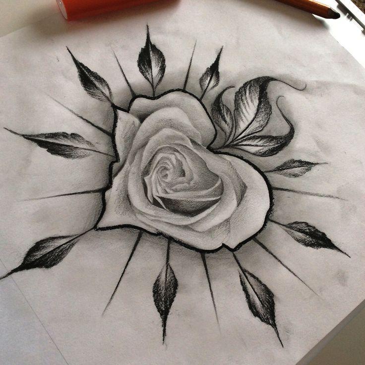 Drawn rose awesome Best TattoosTattoo TattooAwesome ideas TattoosFlower