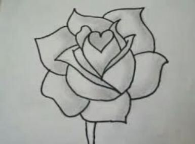 Drawn rose awesome Best / ideas ideas draw