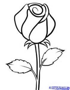 Drawn rose basic And Bud Rose this <3