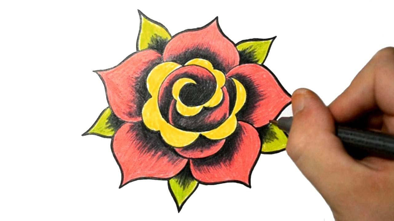 Drawn rose basic A Design Tattoo to Tattoo