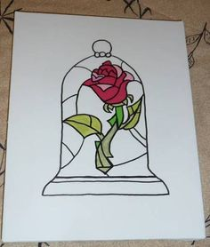 Drawn rose beauty and the beast As this love tattoo! and