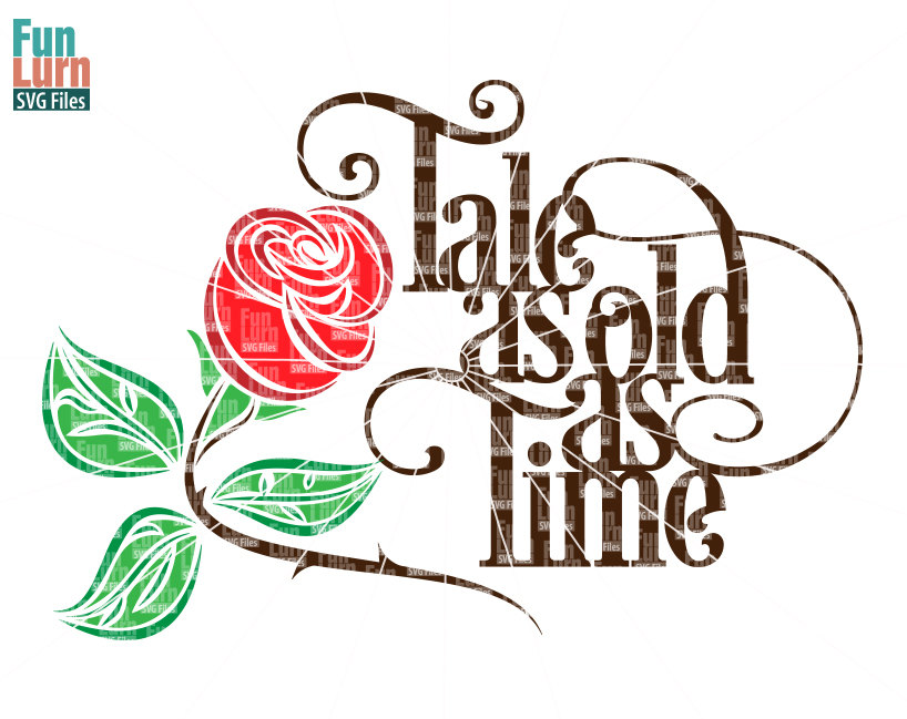 Drawn rose beauty and the beast Wedding Svg Rose Tale As