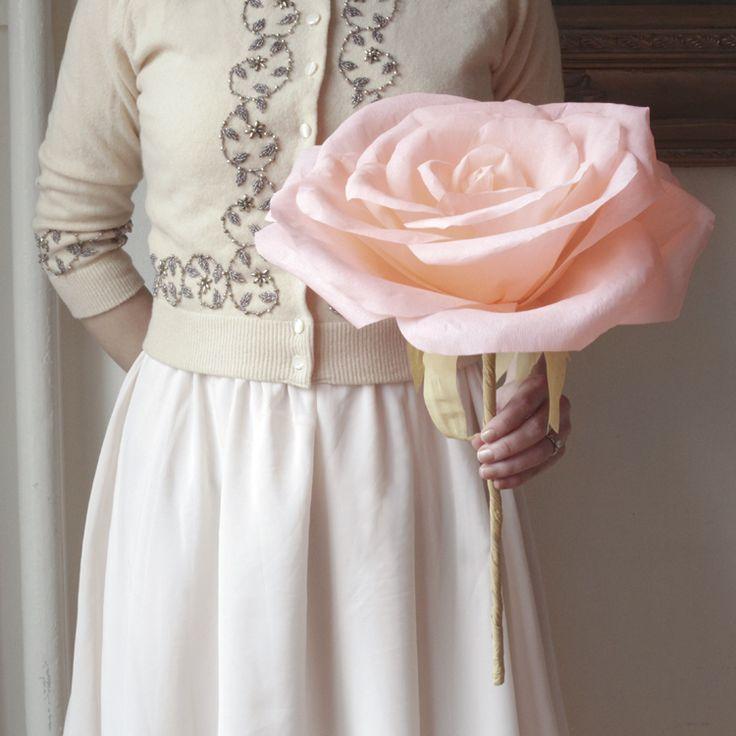 Drawn rose big rose For paper roses giant LOVE