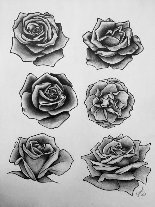 Drawn rose big rose Rose on tattoo ideas It