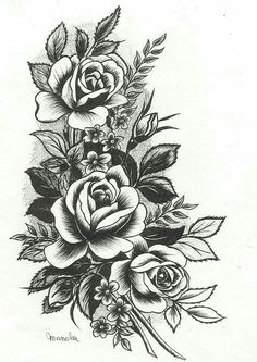 Drawn rose big rose Pretty!! Under it Back piece?