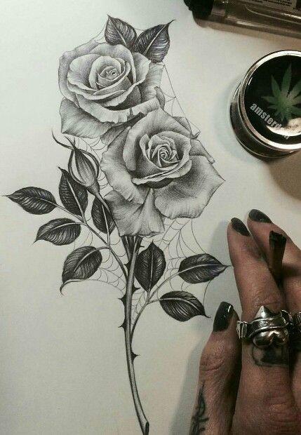 Drawn rose big rose Rose Pinterest ideas on rose