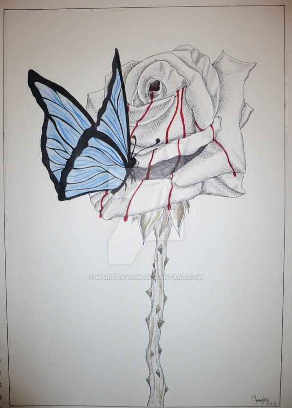 Drawn rose bleeding rose Rose Bleeding by on Rose