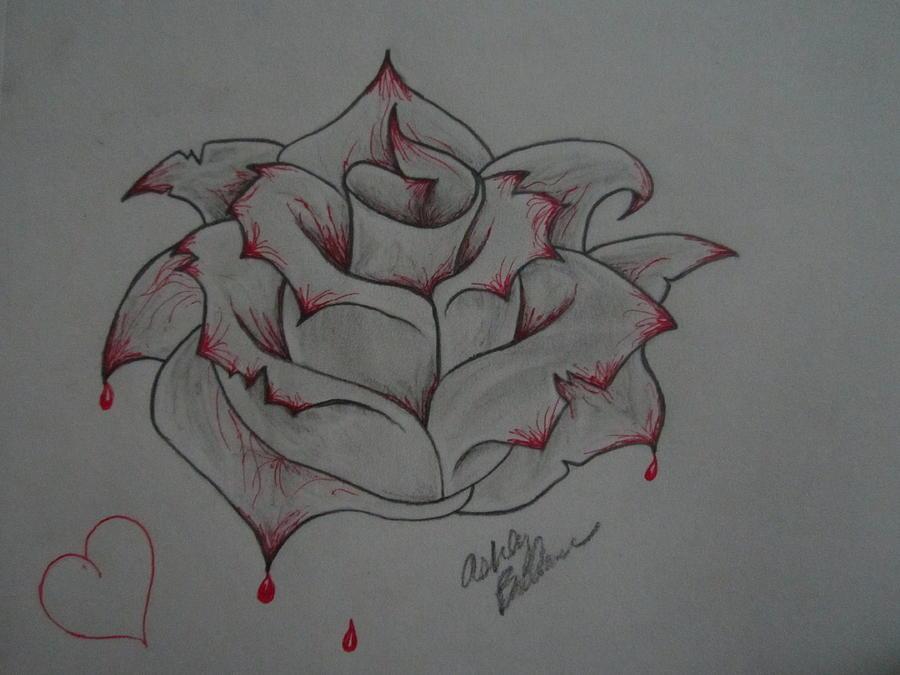 Drawn rose bleeding rose By Ashley Drawing Rose OBrien