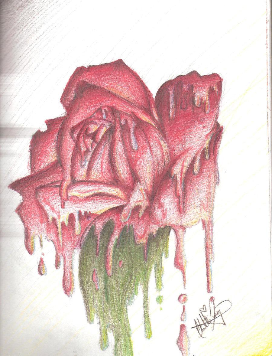 Drawn rose bleeding rose Rose Black Rose Bleeding Black