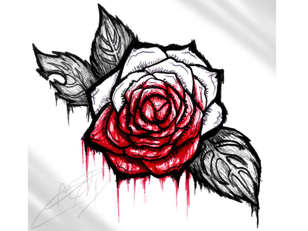 Drawn rose bleeding rose On Pinterest and rose best
