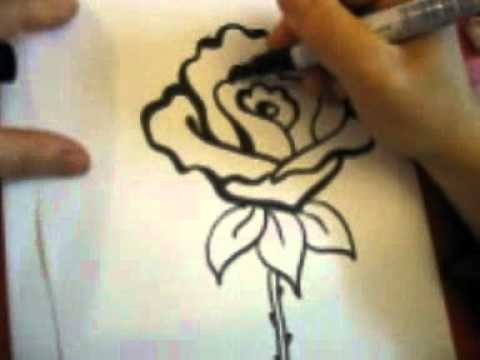 Drawn rose blood drawing How a by Rose Draw