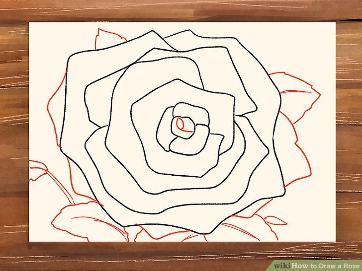 Drawn rose blood drawing Titled Rose 3 Step a