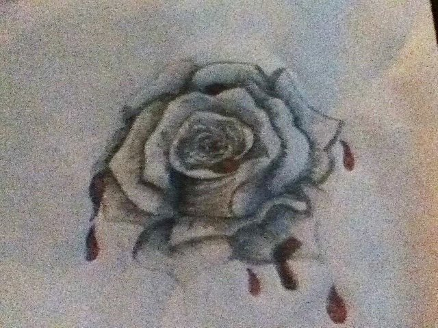 Drawn rose blood dripping Snow's by in Dripping by