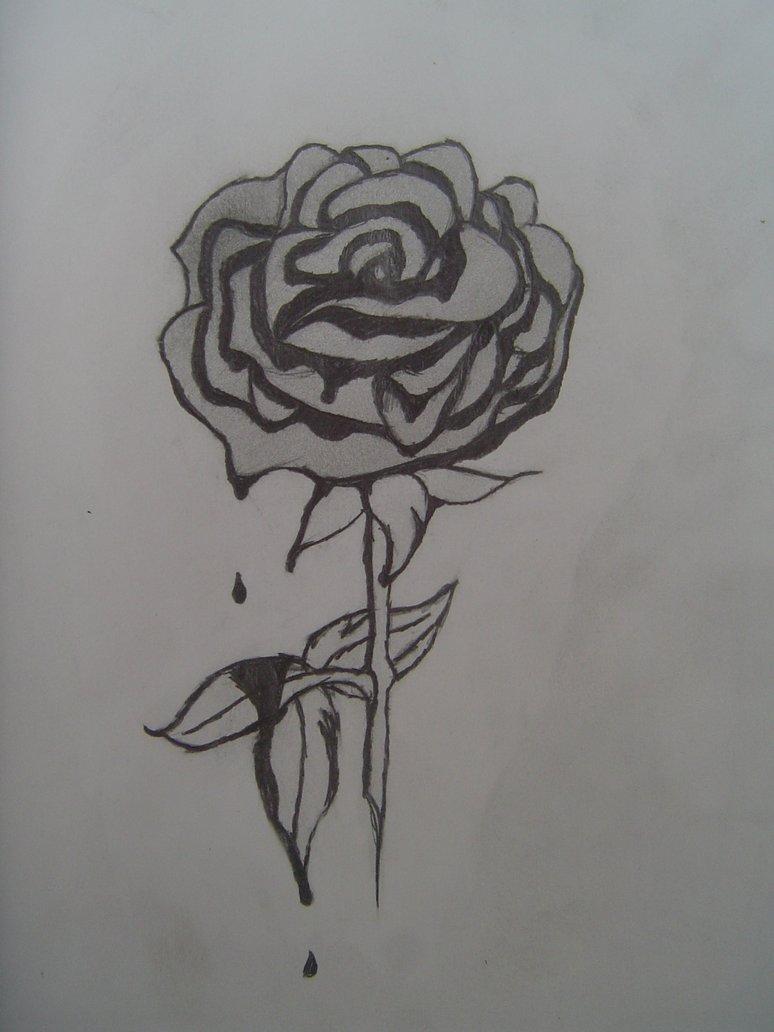 Drawn rose blood dripping Rose Rose Sunsoar DeviantArt Emo