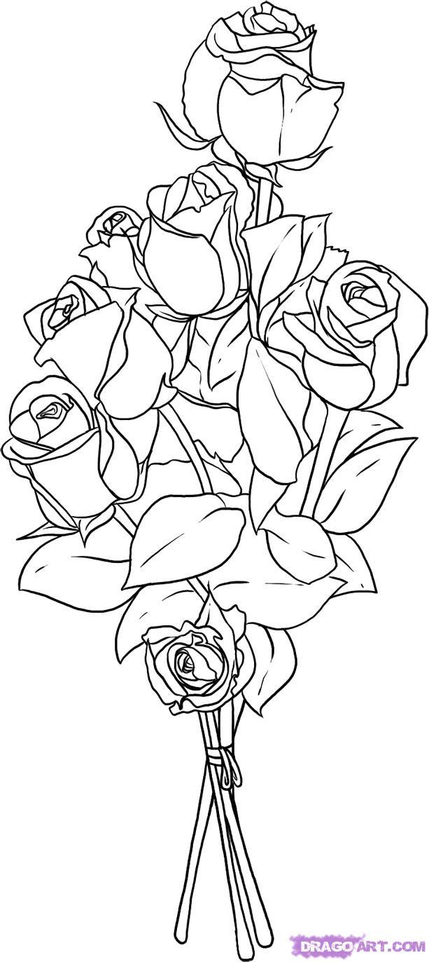 Drawn bouquet To Pop 7 Step