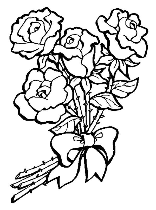 Drawn rose bunch rose Of Draw Drawing Panda To