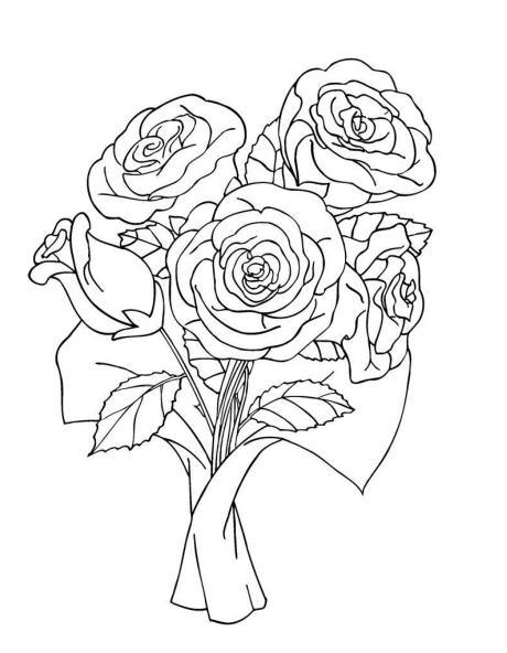 Drawn rose bunch rose Download Flowers A Clip BOUQUET