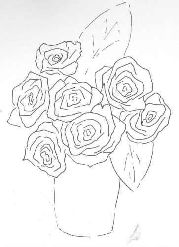 Drawn rose bunch rose Shorthand sort Rose a Draw