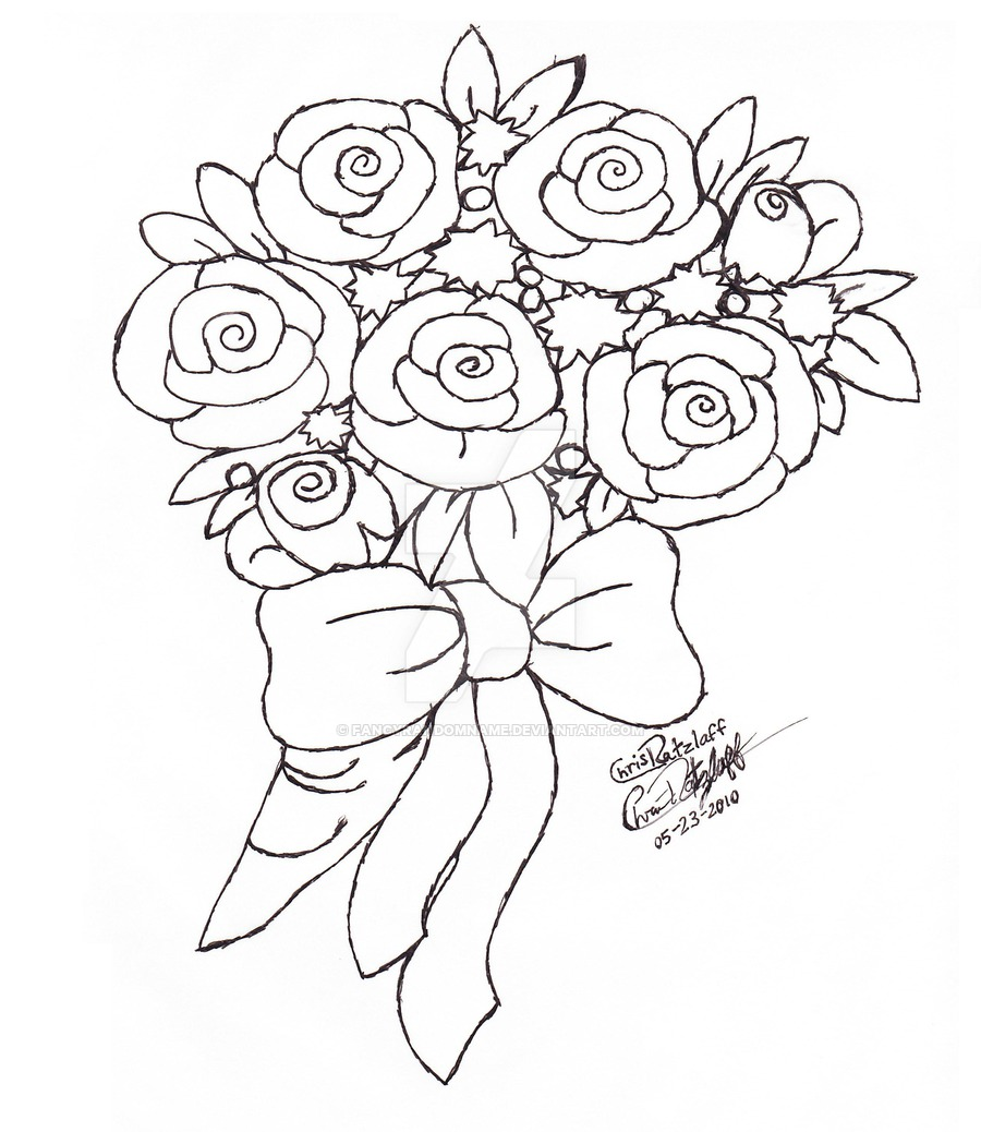 Drawn rose bunch rose Download A Drawing Picture Draw