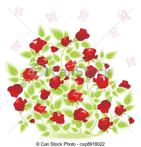 Drawn rose rose bush Bush Panda Free Clipart Clipart