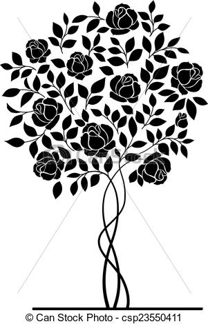 Drawn rose rose bush Art bush (59+) Free rose