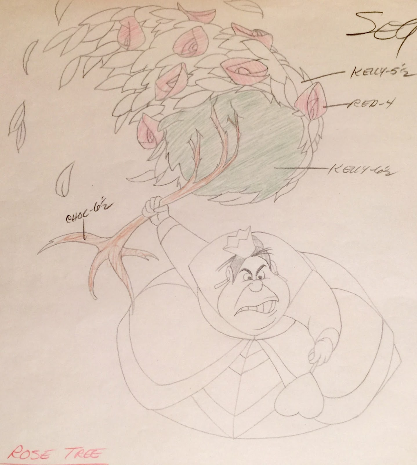 Drawn rose bush alice in wonderland card Of model Production the production