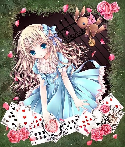 Drawn rose bush alice in wonderland card Dress in Alice Wonderland ART