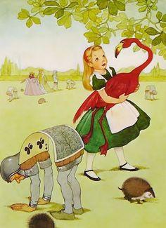 Drawn rose bush alice in wonderland card The in Alice Wonderland Flamingo