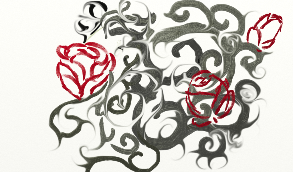 Drawn rose bush artistic Bush Rose bush by Kenzelli