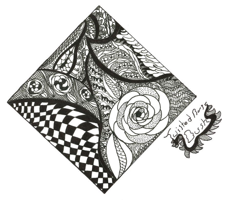 Drawn rose bush artistic Kendall Kendall Ink Drawing Banks