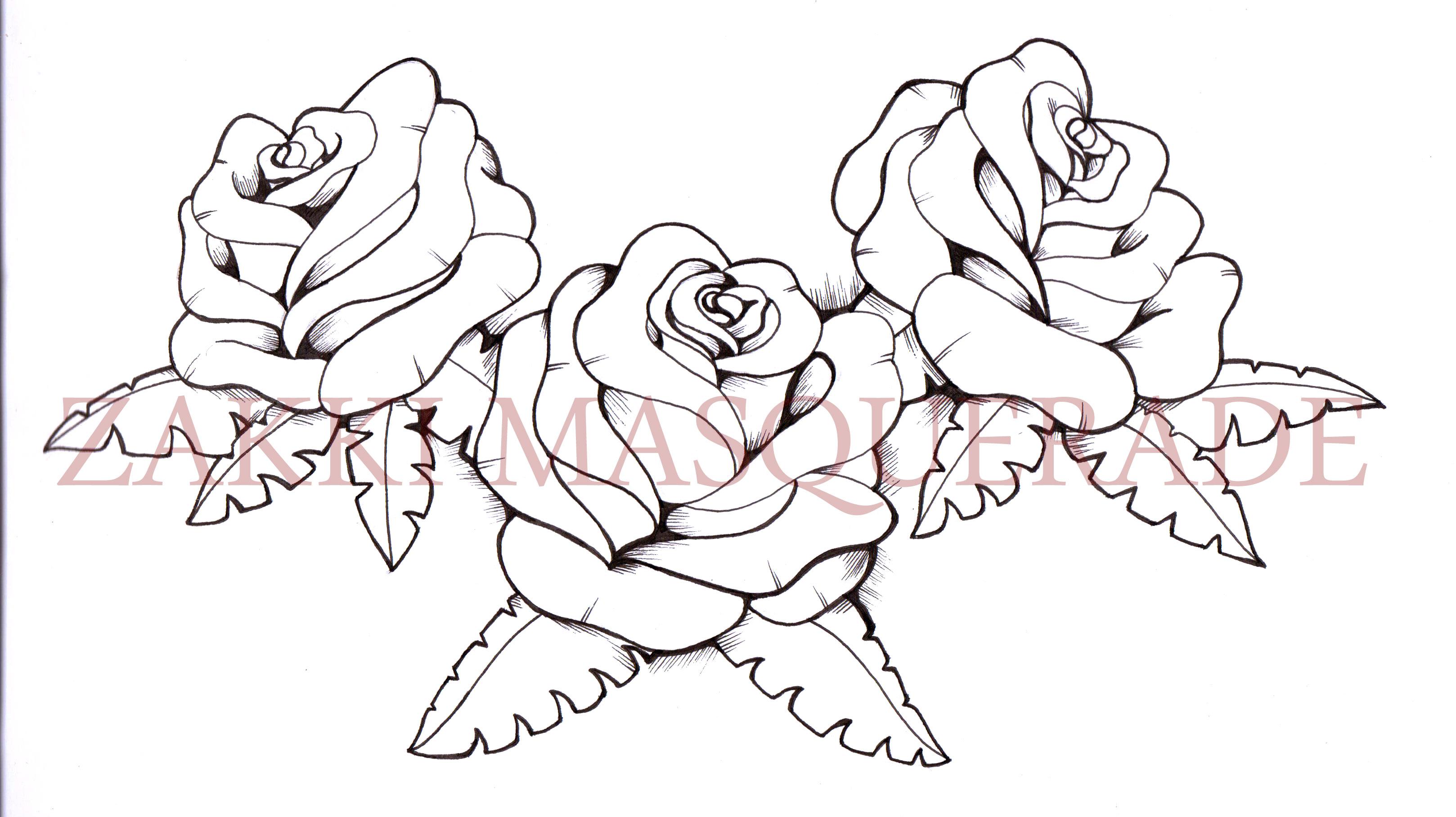 Drawn rose bush big rose Forum pieces pieces Tattoo Roses