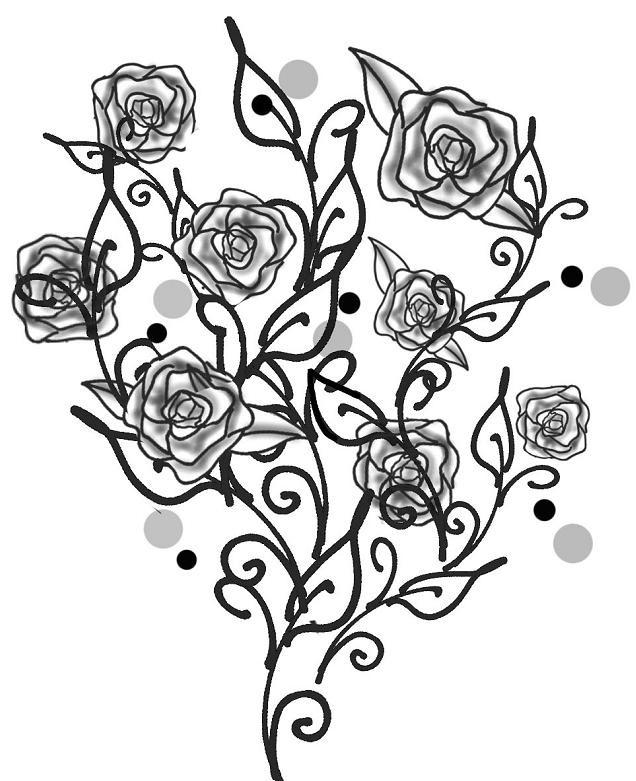 Drawn rose bush black and white #2 Outlaw Update Fundraiser fundraiser